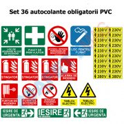 SEt 36 autocolante obligatorii PVC