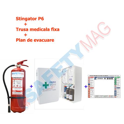 Stingator P6+Trusa medicala fixa+Plan evacuare